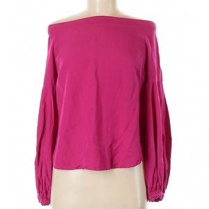 Anthropologie Floreat Pink Long Sleeve Blouse